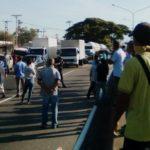 trancada autopista valencia-tocuyito
