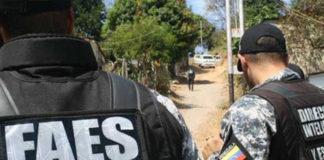 enfrentamiento entre FAES y Policarabobo