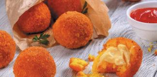 Receta de bolas de arroz fritas rellenas