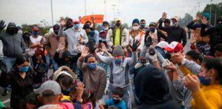 migrantes venezolanos bloquean Bogotá - NDV
