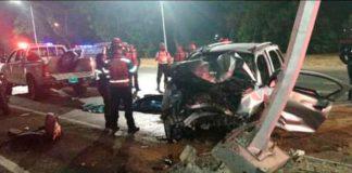 Accidente en la Francisco Fajardo - ndv