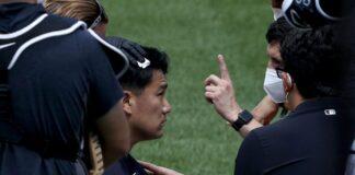 Tanaka recibe pelotazo en la cabeza - NDV
