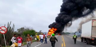 explota camión de gasolina en Colombia - NDV