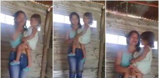 Joven cerca de ser ahorcada con su hija - NDV