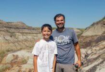 Niño encuentra restos de dinosaurios