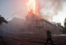 iglesias quemadas en Chile - NDV