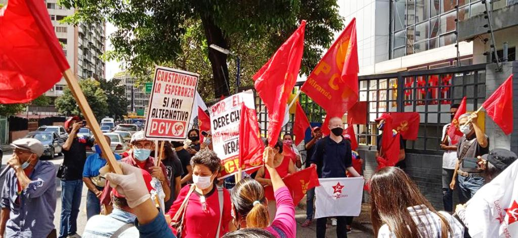 PCV protestó frente a VTV - NDV