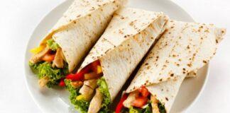 Burritos de pollo y vegetales - NDV
