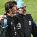 mensaje de apoyo de Messi a Maradona - ndv