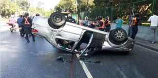 accidente en la Francisco Fajardo