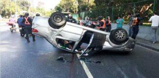 accidente en la Francisco Fajardo
