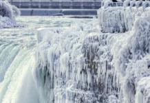 Cataratas del Niágara se congelaron