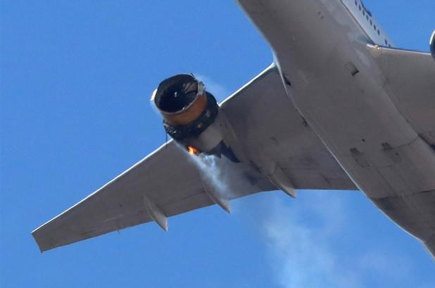 avión United Airlines explotó en el aire - ndv
