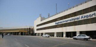 misiles en el aeropuerto de Bagdad