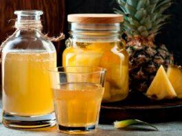 beber agua de cáscara de piña - NDV