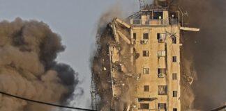 Israel derriba otro edificio en Gaza