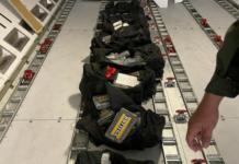 124 panelas de cocaína en Maiquetía