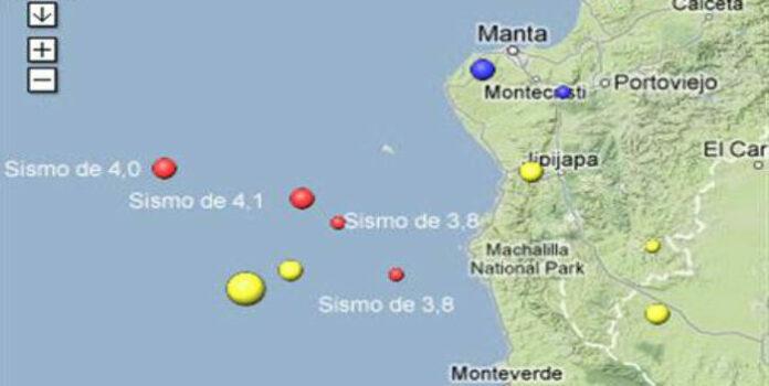 sismos en las costas de Ecuador