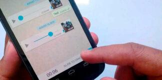 WhatsApp muestra ondas de sonido