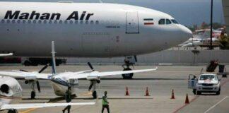 avión iraní sancionado aterrizó