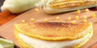 cachapas de harina de maíz
