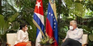 Delcy Rodríguez viajó a Cuba