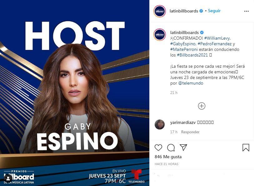Gaby Espino Billboards Latinos