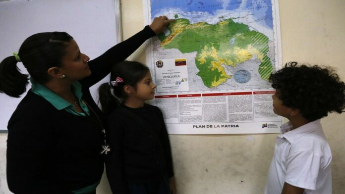 mapa venezolano con el Esequibo