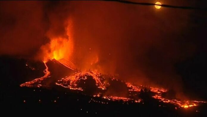 erupción del volcán de La Palma